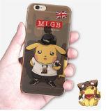 Caja linda de pintura del teléfono celular de Pikachu TPU del labio de la embriaguez del sombrero (XSCH-001)