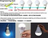 Backup Battery E27 B22の12W Rechargeable Emergency LED Bulb