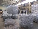 取り外し可能なFoldableおよびスタック可能鋼線の網の容器