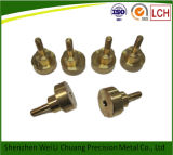Выполненный на заказ CNC Machining Parts Brass Colored Brass с Thread