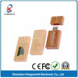 Популярная ручка USB древесины с печатание логоса