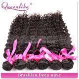 Queenlike schwarze Frauen Choosed bestes Qualitätsnatürliches peruanisches menschliches Jungfrau-Haar-tiefe Welle