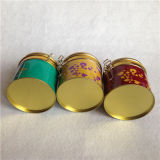 De ronde Doos van het Tin van de Bevordering voor het Pakket van de Koffie om Container