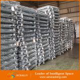 Contenitore accatastabile resistente placcato zinco della rete metallica