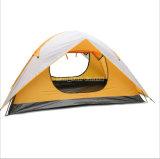 Double tente posée en gros de plage, tente campante de haute qualité