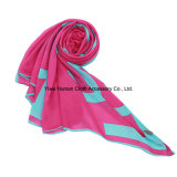Heißes Sale Polyester Printed Scarf mit Bright Color Scarf