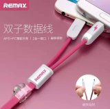 Remax 2in1 original jejua cabo cobrando do USB para o iPhone com micro USB
