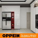 Moderner hoher weißer HPL Lack-hölzerner Küche-Schrank des Glanz-(OP16-HPL03)