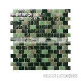 녹색 혼합 벽돌 유대 패턴 (BGZ018)에 있는 녹는 유리제 모자이크 타일