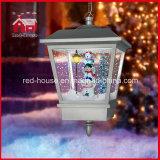 Luci di nevicata del pendente della famiglia del pupazzo di neve dei regali di Natale