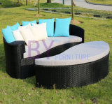 Muebles al aire libre del jardín de Sunbed de la playa de la rota del PE