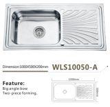 Edelstahl-Küche-Wannen-einzelne grosse Filterglocke Wls10050-a