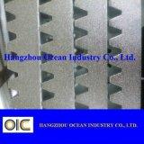 Cremagliera di attrezzo d'acciaio placcata zinco bianco di CNC