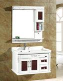 Тщета ванной комнаты PVC с зеркалом и шкафом стороны
