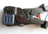 Het Hulpmiddel van de Golfplaat van de Kabel van kabeltelevisie van het Afbijtmiddel van de besnoeiing voor Schakelaar RJ45/Rj12/Rj11 (T5006)