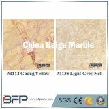Mattonelle di pavimento di marmo beige della Cina per l'hotel/centro commerciale/le costruzioni commerciali