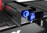 Publicidad de la cortadora del laser de la fibra del producto de la hoja de Metellic