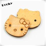 Decoração para casa Crafts Botas de madeira Pattern Sewing Button