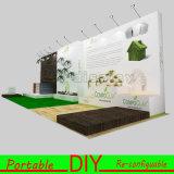 Sistemas modulares portáteis da parede da exposição da exposição da feira profissional do costume DIY