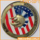 Изготовленный на заказ монетка бронзы Antique логоса в 3D (YB-CO-01)