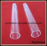 Tubo de prueba inferior redondo claro del vidrio de cuarzo del laboratorio con el corcho