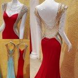 Vestidos do baile de finalistas do partido do Spandex que perlam os vestidos de noite Backless E16832
