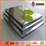L'iso e lo SGS hanno certificato il comitato di parete composito di alluminio anodizzato argento