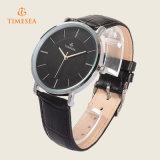 Reloj analogico del cuarzo del Mens de Timesea con el caso delgado 72297