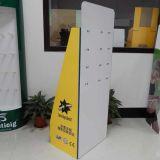 Fabricante de la visualización de la cartulina de China, visualización modificada para requisitos particulares de la cartulina con los ganchos de leva para el cartucho de la impresión
