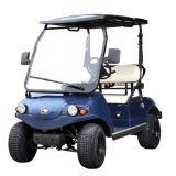 Carro de golfe com o carrinho do Caddie usado no clube de golfe