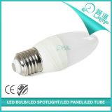 Nueva lámpara E14 E27 Availbale de la vela del diseño 6W LED