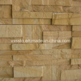 Natureza Yellow Sandstone Culture Pedra Painéis de revestimento
