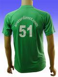 T-shirt da impressão dos homens do algodão do poliéster 45% de 55%