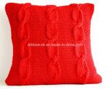 La mode neuve 100% de modèle tricotent à la main la caisse de couvertures de coussin de palier