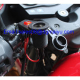12 V Motorcycle Cigarette Lighter Socket con Switch per Handlebars