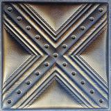 Panneau de mur en cuir d'unité centrale du luxe 3D pour la décoration (HS-MK003)