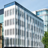 Hoja de aluminio perforada del revestimiento de la pared para la decoración de la fachada