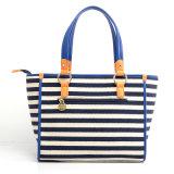 Latest Ladies Fashion Canvas Small Striped Handbag (pH1709)デザイナー