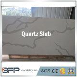 Pedra de quartzo branco artificial artificial projetado em China para bancada de cozinha