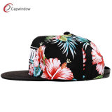 Allover Red Flower Snapback Boné de beisebol com bordado em 3D