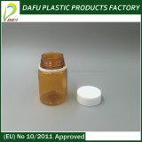 Bottiglia di plastica arancione della medicina dell'animale domestico 60ml