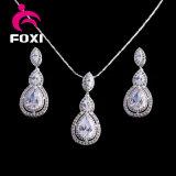Conjunto de la joyería de la plata y del oro de la joyería de la manera del precio de la promoción