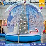 Haltbares Weihnachtsdekorative riesige aufblasbare menschliche Schnee-Kugeln für Verkauf