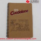 Cuaderno diario del papel del espiral del estudiante de la escuela del uso