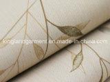 폴리에스테 잎 디자인 인쇄 Twilled 본래부터 방연제 내화성이 있는 정전 직물