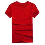 T-shirt 2016 fait sur commande de collet court de la chemise O de polyester pour les hommes