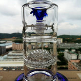 Hb-K48 Honeycomb com Two Half Ball Perc Windmill Wheel Shape Glass Smoking Water Pipe