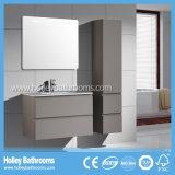 Le tiroir blanc et en bois moderne de Module de salle de bains sautent automatiquement vers le haut et le blanc (BF138M)
