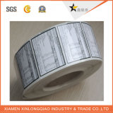 Обозначьте печатание прозрачным PVC пластмассы стеклянный стикер Barcode липкой бумага