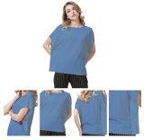 Le donne di colore solido mettono il pullover in cortocircuito 100% del cachemire dei manicotti di stile 3/4